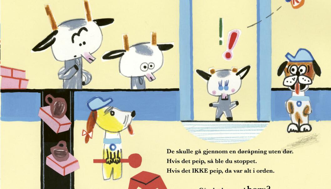 <strong>TIL SYDEN:</strong> Bukkene Bruse drar verken til seters eller på badeland i ny bok. Illustrasjon fra boka