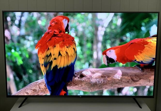 <strong>4K:</strong> Når videomaterialet er godt, kan du få flott bilde på denne TV-en. Foto: BJørn Eirik Loftås