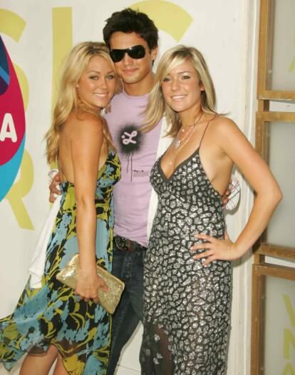 <strong>DEN GANG DA:</strong> Kristin (til høyre) sammen med Stephen og Lauren Conrad under MTV Video Music Awards i Miami i 2005. Foto: NTB Scanpix