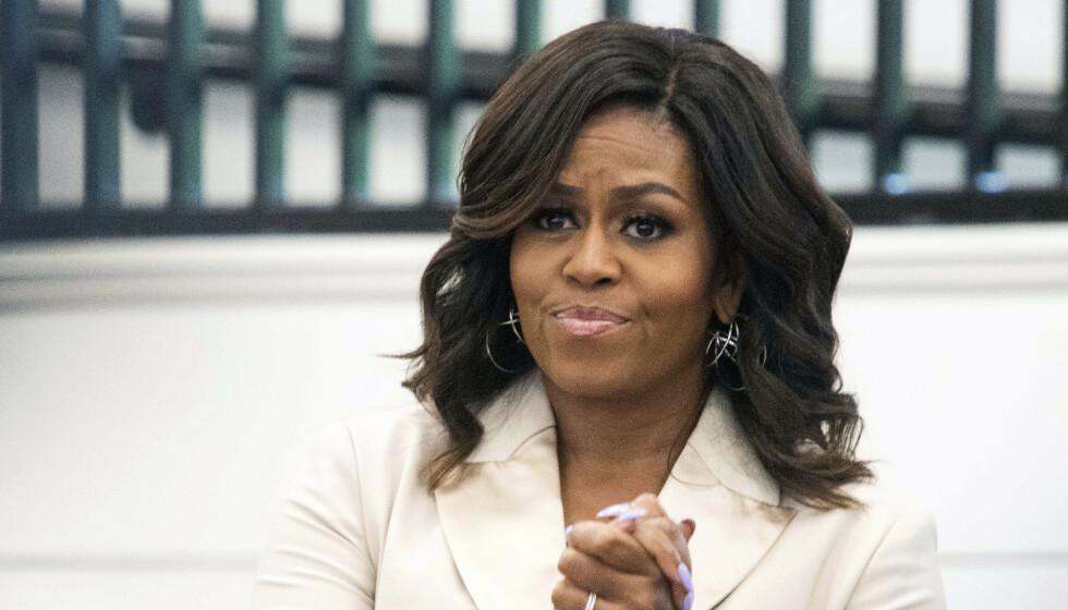 <strong>OVERGANGSALDER:</strong> Den tidligere førstedamen Michelle Obama avslører i sin egen podkast at hun går på hormoner, og har slitt med plager i overgangsalderen. Foto: NTB Scanpix