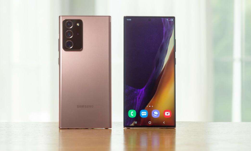 <strong>NY TOPPMODELL:</strong> Note 20 Ultra er Samsungs nye toppmodell. Foto: Samsung