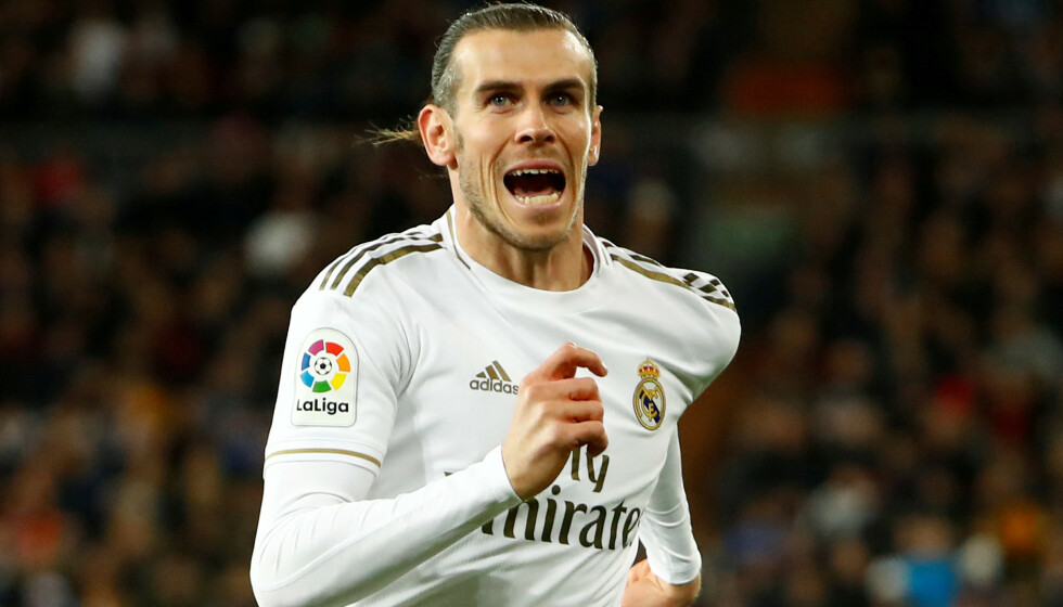 <strong>FÅR IKKE SPILLE:</strong> Gareth Bale er ute i kulda på Estadio Santiago Bernabéu. Foto: NTB scanpix