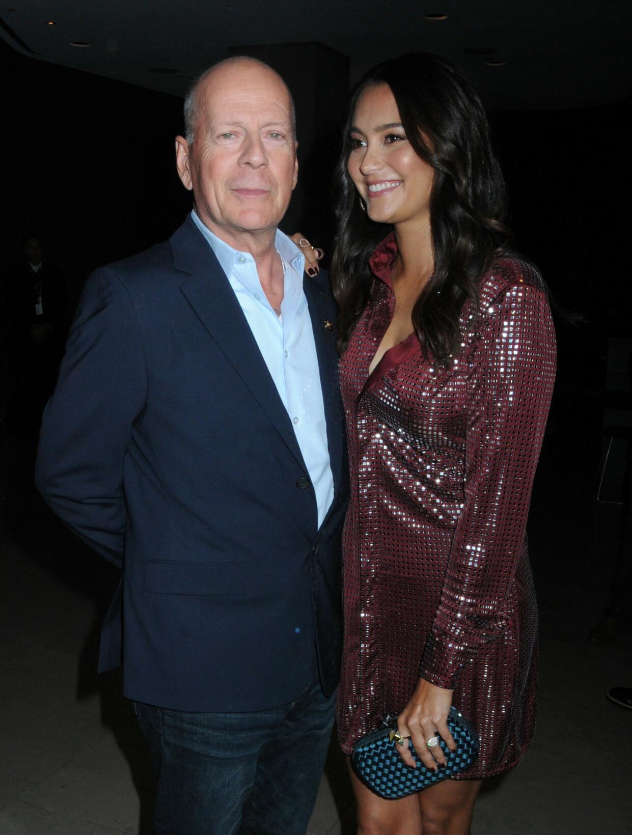 <strong>NY KONE:</strong> Bruce Willis med kona Emma Heming i New York i fjor. Foto: NTB Scanpix