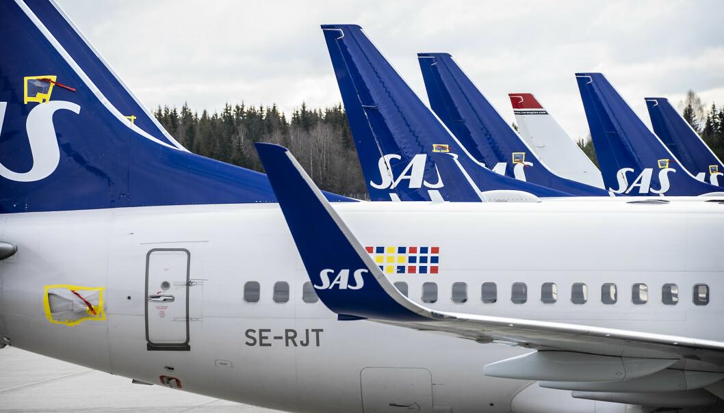 <strong>KAN GÅ:</strong> Et SAS-fly fra Frankrike skal etter planen lande ti minutter etter at karanteneplikten slår inn. Foto: Hans Arne Vedlog / Dagbladet