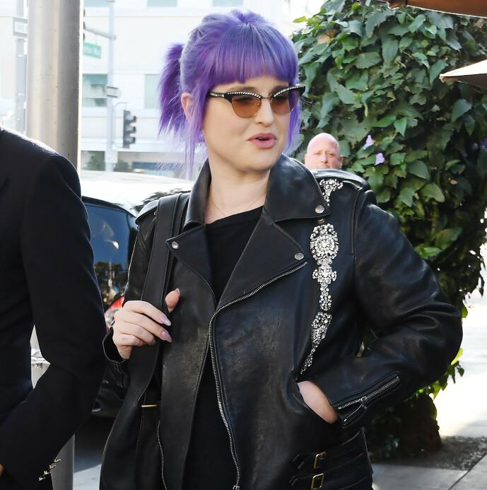 <strong>I 2019:</strong> Kelly Osbourne ute på vift høsten 2019. Foto: NTB scanpix