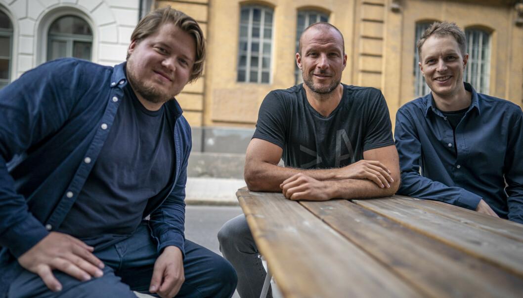 <strong>TEAMET BAK FILMEN:</strong> Aksel Lund Svindal er aktuell med kinofilmen Aksel, som har premiere i slutten av november. Filmen er regissert av kompisene hans Filip Christensen (t.v.) og Even Sigstad. FOTO: Heiko Junge / NTB scanpix