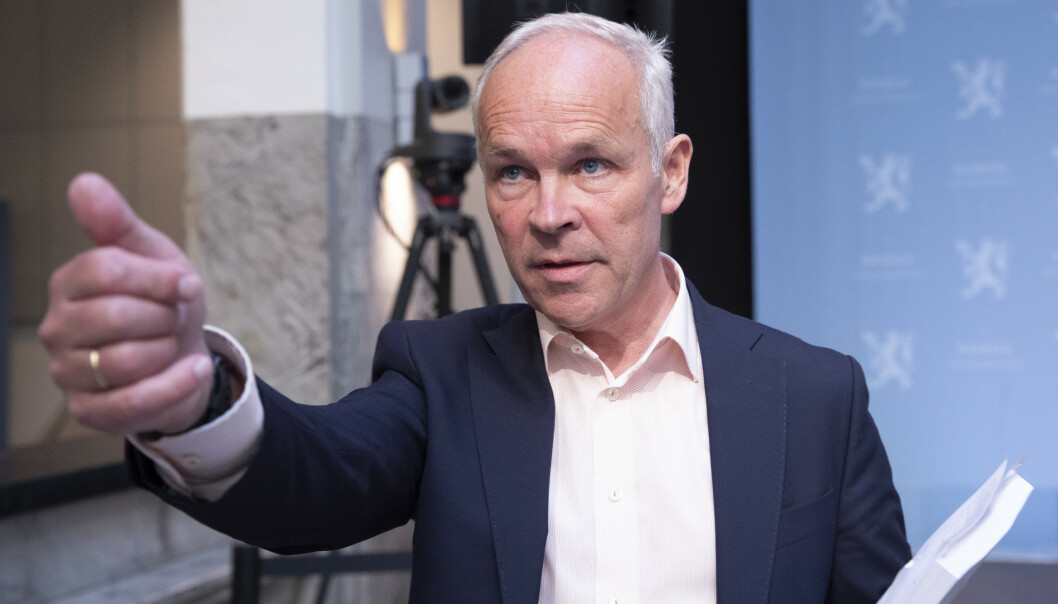 <strong>VEL ANVENDT:</strong> Finansminister Jan Tore Sanner (H) må svare på om han syns det var verdt pengene å få et privat advokatfirma til å utrede spillerommet i Tangen-saken. Foto: Terje Bendiksby / NTB scanpix