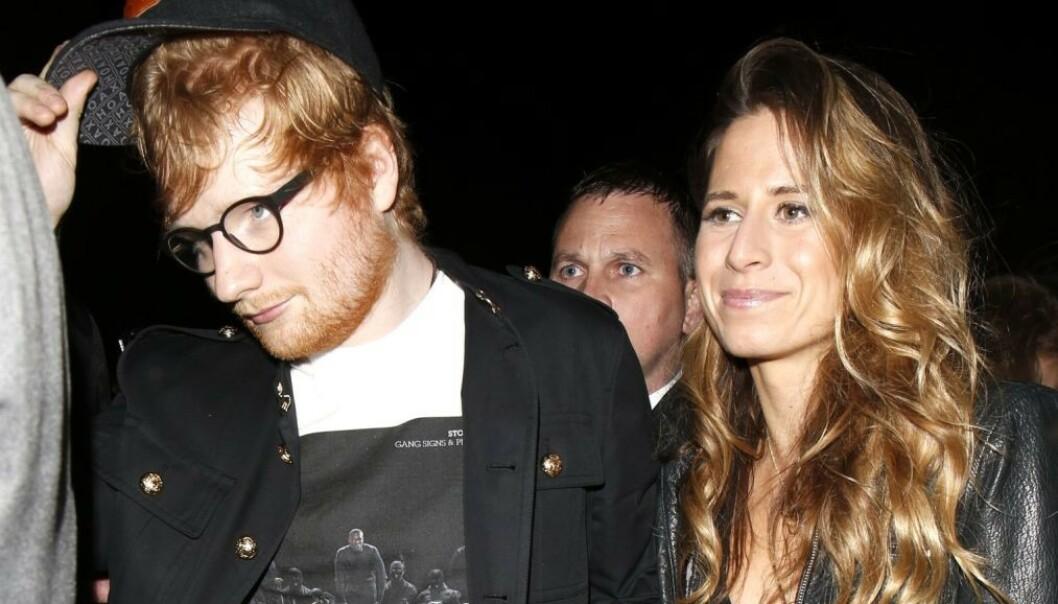 <strong>VORDENDE FORELDRE:</strong> Den britiske popstjernen Ed Sheeran og kona Cherry Seaborn blir trolig foreldre til sitt første barn denne sommeren. Foto: NTB Scanpix