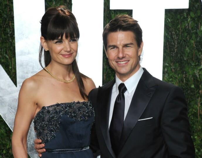 <strong>DEN GANG DA:</strong> Katie Holmes og Tom Cruise under Oscar-utdelingen i 2012, mens de ennå var et par. Kort tid senere var skilsmissen et faktum. FOTO: NTB scanpix