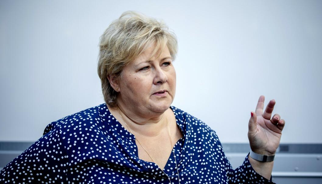 <strong>UTVIDER:</strong> Regjeringen og statsminister Erna Solberg utvider permitteringsordningen til 52 uker. Foto: Nina Hansen / DAGBLADET