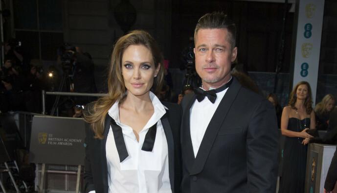 <strong>EKSPAR:</strong> Brad Pitt og Angelina Jolie var mann og kone i to år. Foto: NTB Scanpix
