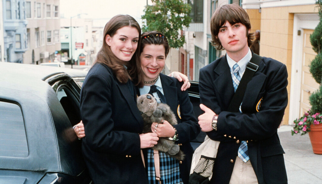 <strong>SUKSESS:</strong> Anne Hathaway, Heather Matarazzo og Robert Schwartzman i «Prinsesse på prøve». Foto: NTB scanpix