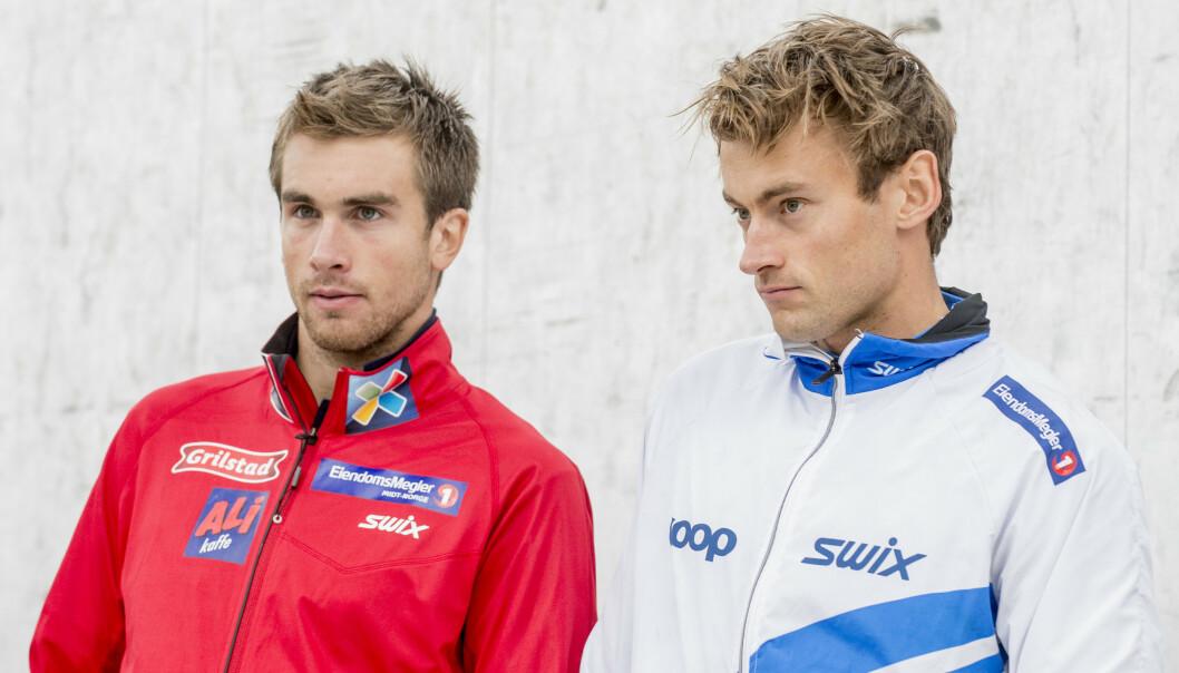 Petter Northug og broren Tomas Northug, avbildet i 2014. Foto: Ned Alley / NTB scanpix