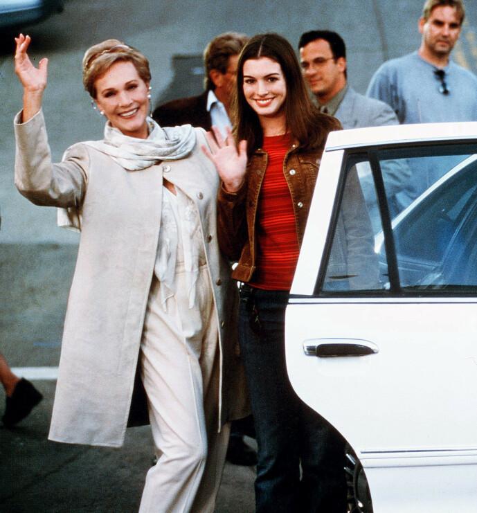 <strong>STJERNELAG:</strong> Julie Andrews spilte også i filmen fra 2001. Hun var også å se i oppfølgeren få år senere. Foto: NTB scanpix
