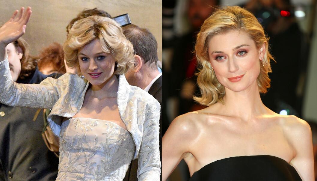 <strong>SPILLER DIANA:</strong> Emma Corrin og Elizabeth Debicki spiller begge Diana i «The Crown». FOTO: NTBScanpix