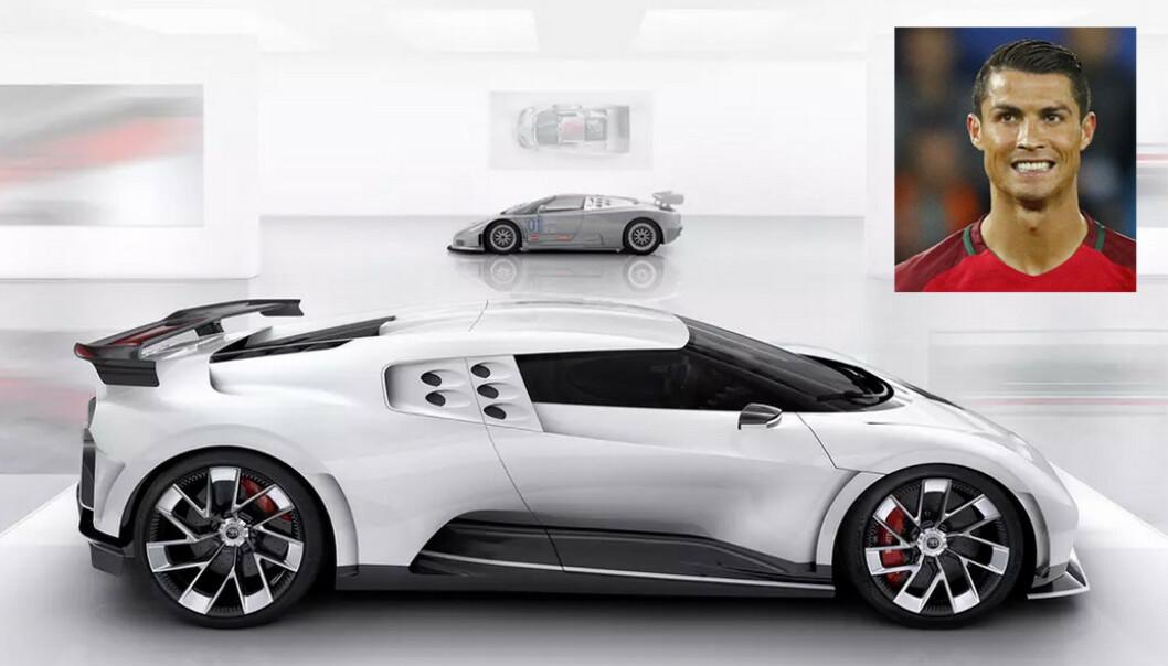 <strong>BARSKE:</strong> Bugatti sier aldri noe om hvem som kjøper bilene deres, men mange kilder sier at Cristiano Ronaldo har kjøpt fabrikkens hittil sterkeste og dyreste bil – Centodieci. Foto: Bugatti, Dagbladet