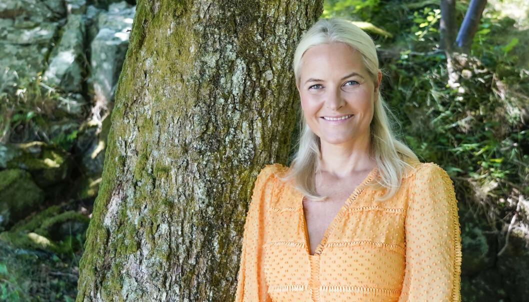 <strong>FYLLER ÅR:</strong> Kronprinsesse Mette-Marit på Dvergsøya utenfor Kristiansand der kongefamilien ferierte i år. Foto: Lise Åserud / NTB scanpix