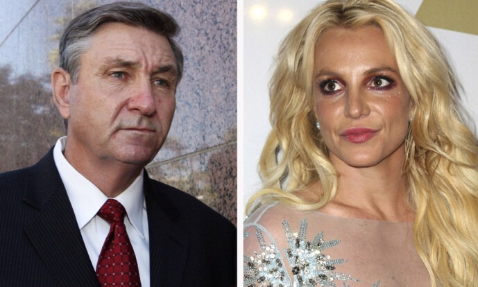 <strong>VIL FJERNE FAREN:</strong> Britney Spears vil ha Jodie Montgomery som sin permanente verge istedenfor sin egen far Jamie Spears (t.v.). Foto: NTB Scanpix