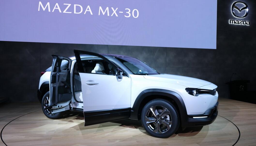 <strong>KORT REKKEVIDDE:</strong> Mazda har valgt kort rekkevidde og rimelig pris på MX-30. Foto: Rune Korsvoll