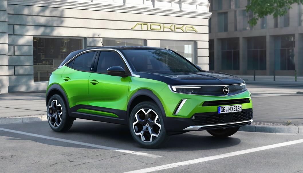 <strong>ELEKTRISK:</strong> Opel Mokka kommer også med bensin og diesel, men i Norge er det elektrisk som gjelder. Foto: Opel