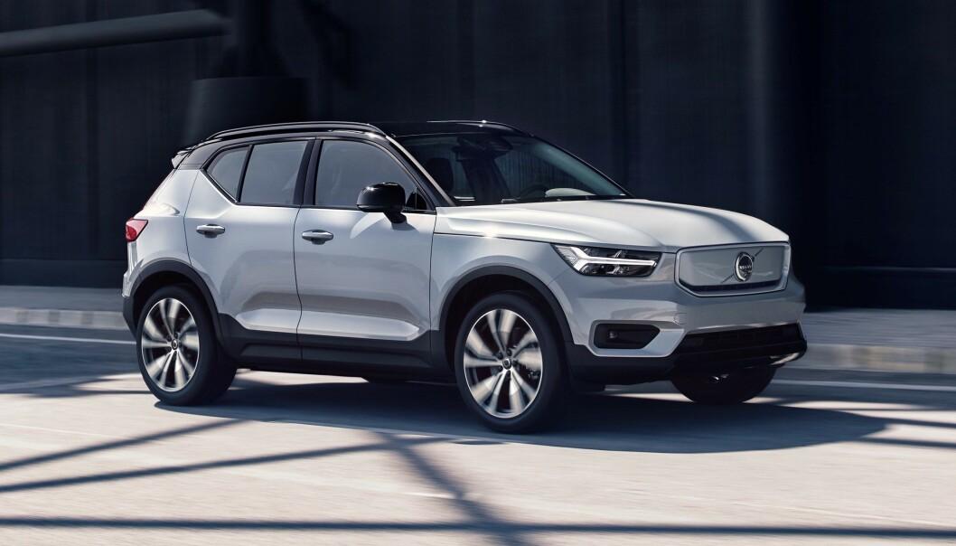 <strong>VENTET LENGE:</strong> Kundene har ventet lenge på Volvos første elbil. I oktober kommer de første bilene. Foto: Volvo