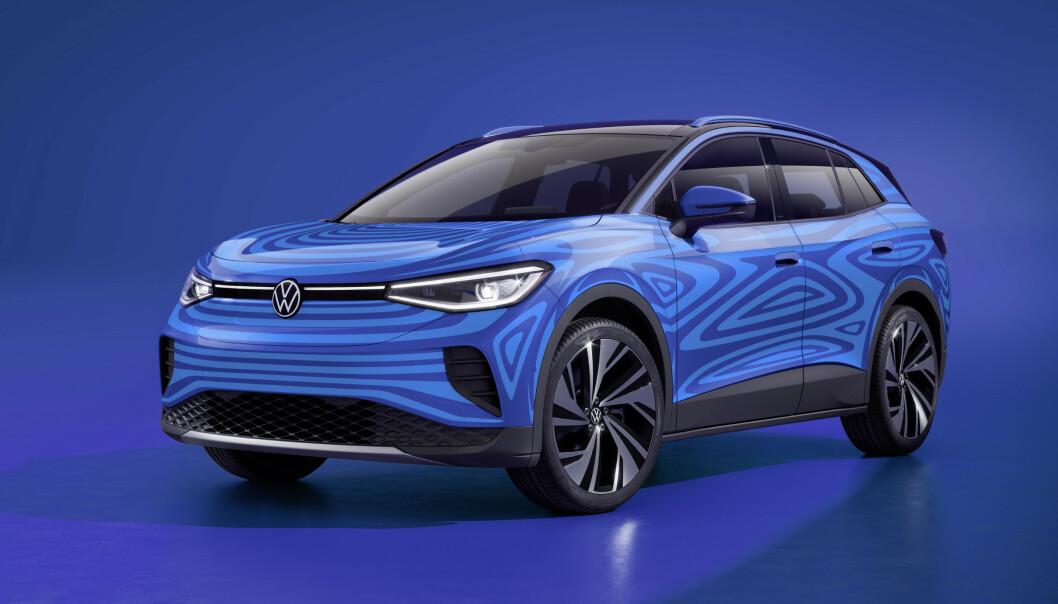 <strong>KAMUFLERT:</strong> Foreløpig har VW bare offentliggjort kamuflerte biler av ID.4. Foto: VW