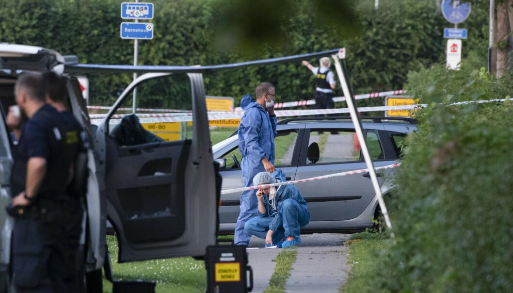<strong>DOBBELTDRAP:</strong> Politiet mener de tre mennene ble lurt i en felle. En av dem overlevde, de to andre ble drept. Foto: Johan Nilsson /TT / NTB scanpix