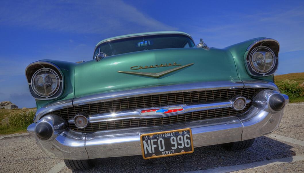 <strong>KOMMER TIL NORGE:</strong> «Amerikanske bilskilter», som på denne Chevrolet Bel Air fra 1957, kan snart fås på norsk-amerikanske biler. Foto: Scandinavian Stockphoto