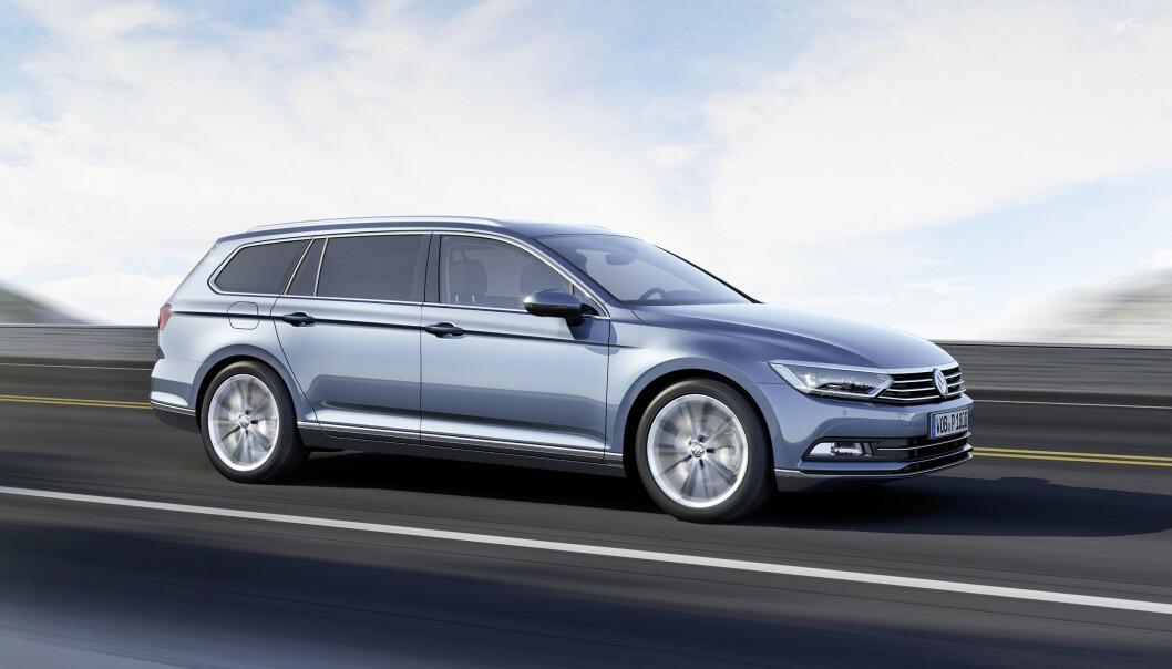 <strong>GÅR LENGST:</strong> VW Passat er bilen som går lengst på det vi ofte kaller reservetanken, men som egentlig bare er bunnskrapet i den vanlige drivstofftanken. Foto: VW