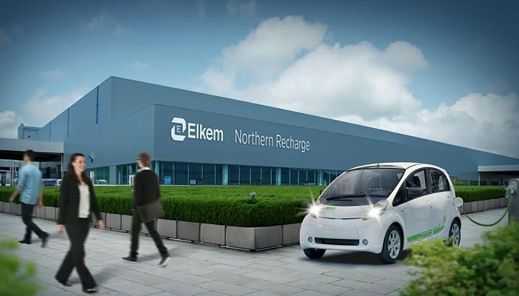 <strong>Fremtiden:</strong> Slik illustrerer Elkem sine nye fasiliteter i Porsgrunn. Illustrasjon: Elkem