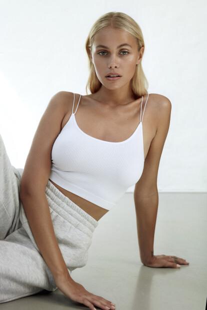 <strong>MODELL:</strong> Juliane Snekkestad er en av modellene som fronter Bik Boks nye kampanje. Foto: Renate Torseth/ Bik Bok