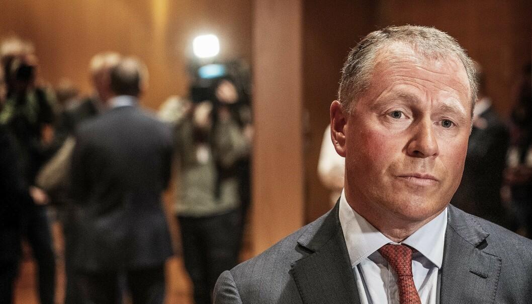 <strong>ANSATT:</strong> Nicolai Tangen, ny sjef i oljefondet på pressekonferanse i Norges Bank.    Foto: Hans Arne Vedlog / Dagbladet
