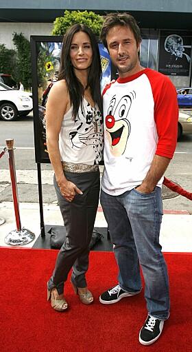 <strong>DEN GANG DA:</strong> Courteney Cox og David Arquette i 2006, to år etter at de fikk ei datter sammen. Foto: NTB scanpix