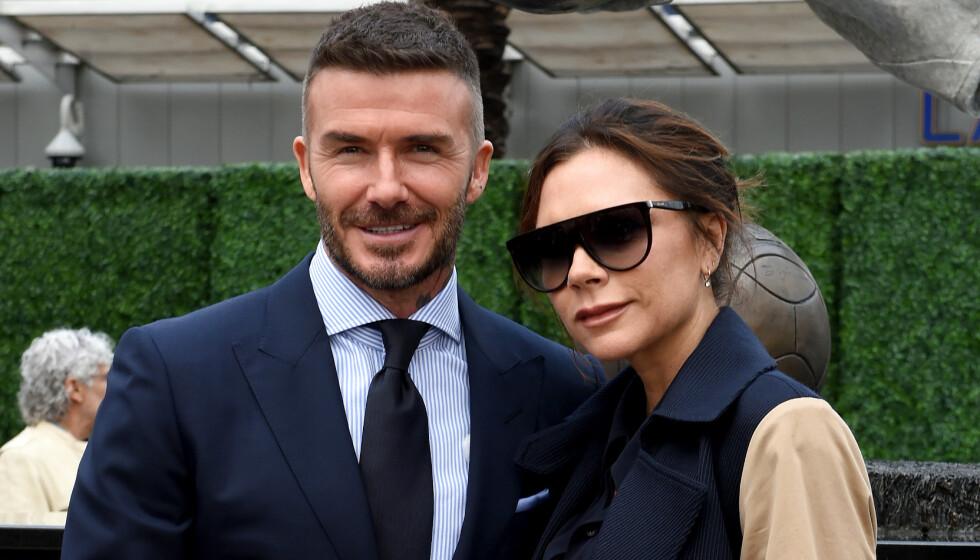 <strong>BESATT:</strong> David Beckham skal være en stor fan av konas skjønnhetsprodukter. Foto: NTB Scanpix