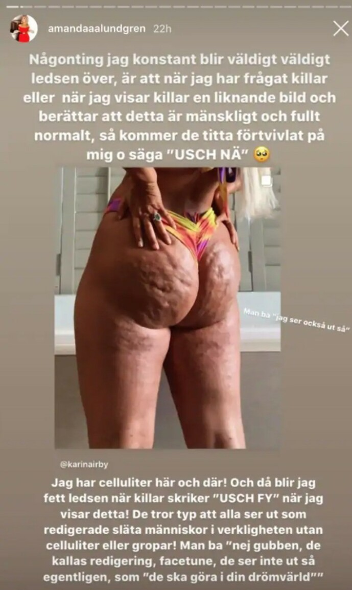 Foto: Skjermdump fra Instagram/amandaaalundgren
