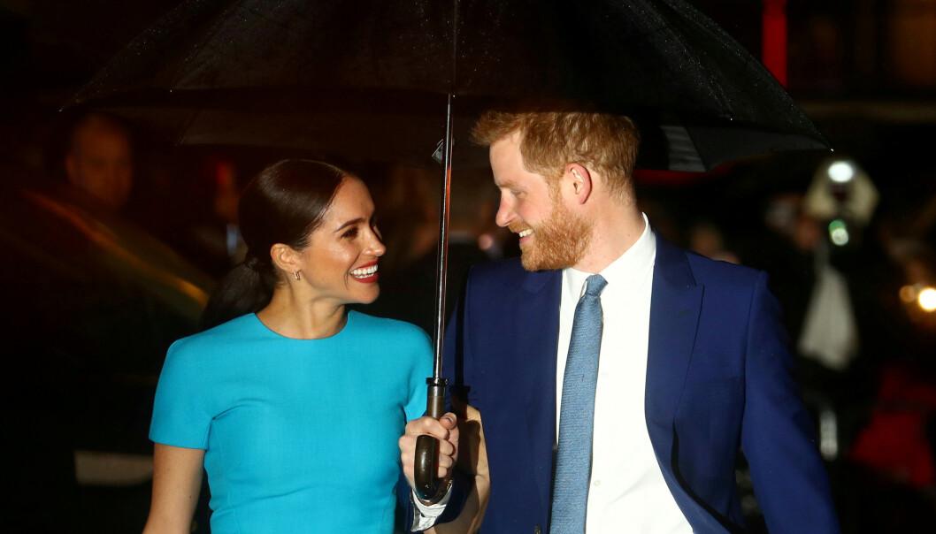 <strong>OPPDRAG:</strong> Meghan og Harry på en Endeavour Fund Awards i London i mars 2020. FOTO: REUTERS/Hannah McKay/NTBScanpix
