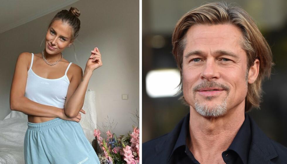 <strong>BRAD PITT:</strong> Det spekuleres i om Hollywood-kjekkasen Brad Pitt har funnet lykken på ny med den tyske modellen Nicole Poturalski, etter at de to ble observert sammen på hans privatfly i retning Sør-Frankrike. FOTO: Skjermdump Instagram / NTB scanpix