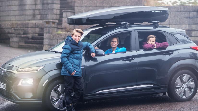 Familien testet elbilen på langtur