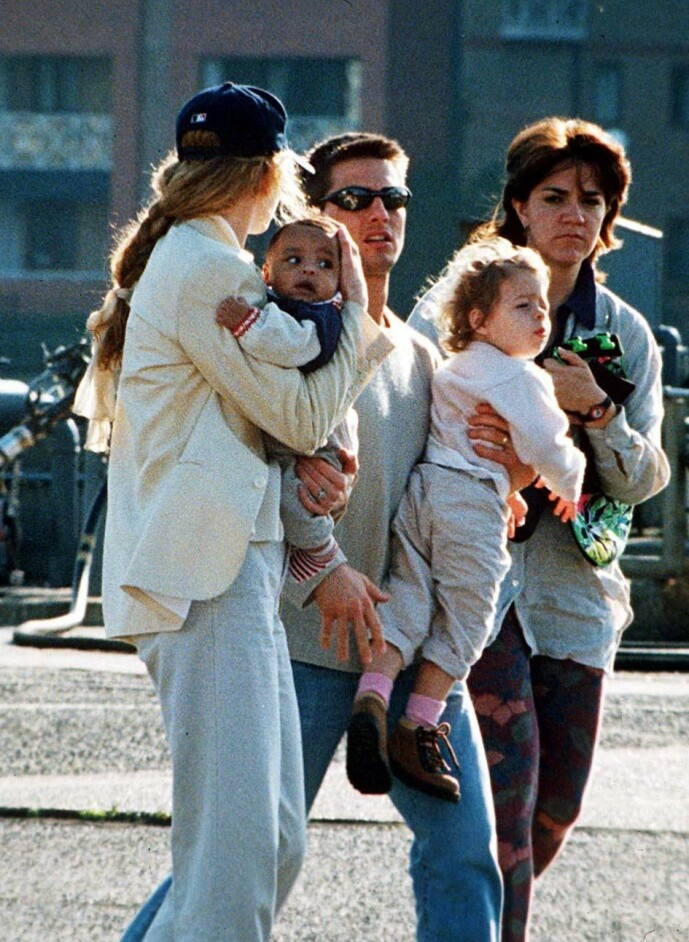 <strong>DÅRLIG STEMNING:</strong> Da Cruise og Kidman skilte seg, var det han som fikk foreldreansvaret. Han og barna er fortsatt medlemmer av scientologikirken. Kidman sier hun støtter dette, men forholdet mellom mor og barn skal likevel være anstrengt. Foto: NTB Scanpix