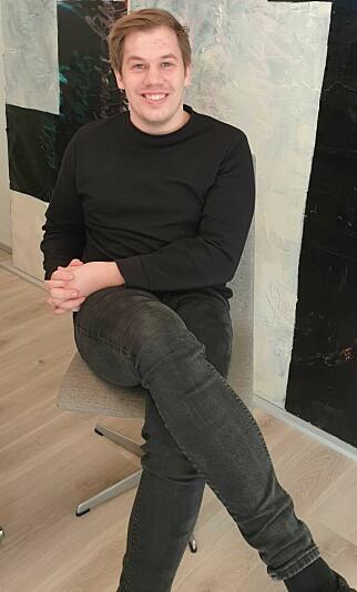 Håvar Bjørnseth er daglig leder i startupen Gamefraym, ved siden av jobben som utvikler i ScaleAQ. 📸: Privat