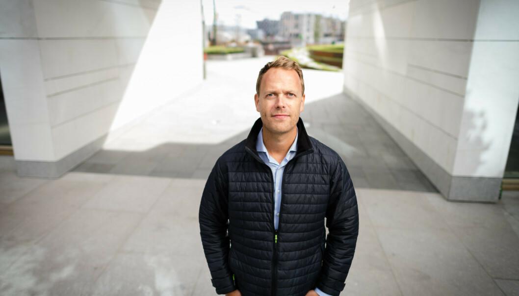 <strong>KLAR TALE:</strong> Boligtopp Jørn Are Skjelvan mener Oslo kommune «må stikke fingeren i jorda og innrømme at leilighetsnormen ikke fungerer slik den var ment». Foto: Stig B. Fiksdal