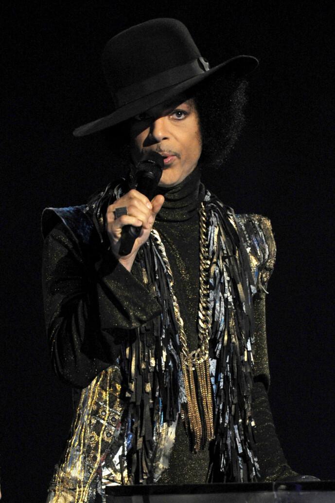 <strong>IKON:</strong> Artistlegenden Prince er å anse som en av de aller største gjennom tidene. Han rakk bare å bli 57 år gammel, og døde som følge av en fentanyl-overdose. Foto: NTB Scanpix