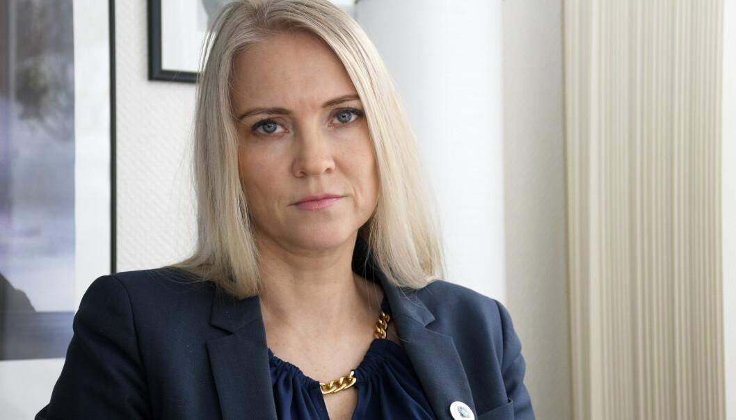 Leder i Norsk Sykepleierforbund Lill Sverresdatter Larsen. Foto: Rune Stoltz Bertinussen/NTB Scanpix