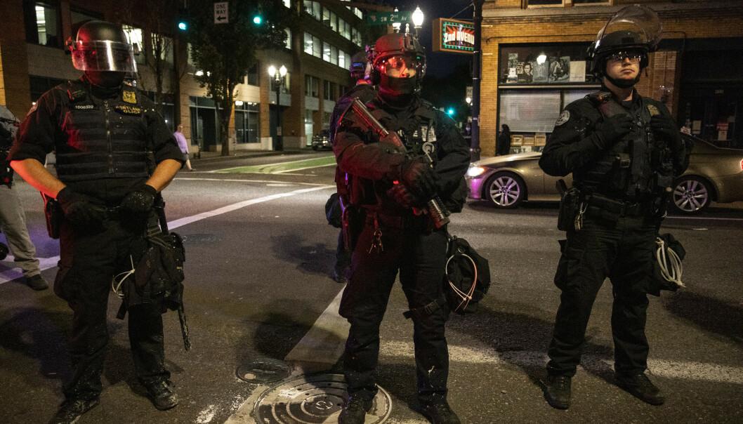 En person skutt og drept i demonstrasjoner i Portland i USA