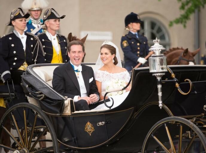 <strong>VIL JOBBE:</strong> Chris O'Neill giftet seg inn i den svenske kongefamilien i 2013. Han ønsket imidlertid ingen kongelig tittel slik at hun kunne fortsette å jobbe privat. Foto: NTB scanpix