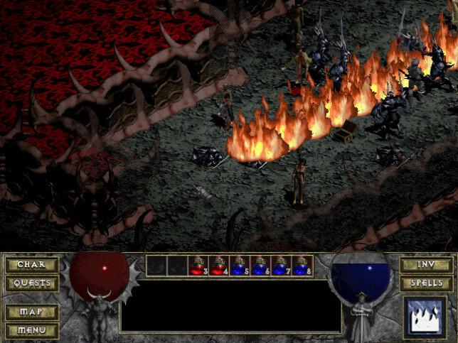 Mørkt, diabolsk og groteskt - Diablo definerte nærmest en hel estetikk da det kom ut i 1997. Eller 1996. Det er faktisk en diskusjon, tro det eller ei, som vi får ta en annen gang. 📸: GOG.com
