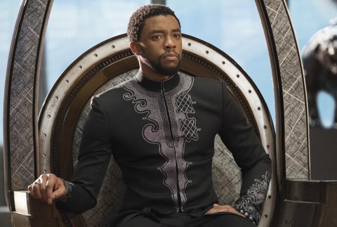 <strong>GJENNOMBRUDD:</strong> Chadwich Boseman i rollen som Black Panther. Dette var på flere måter hans store gjennombrudd som skuespiller. Foto: NTB scanpix