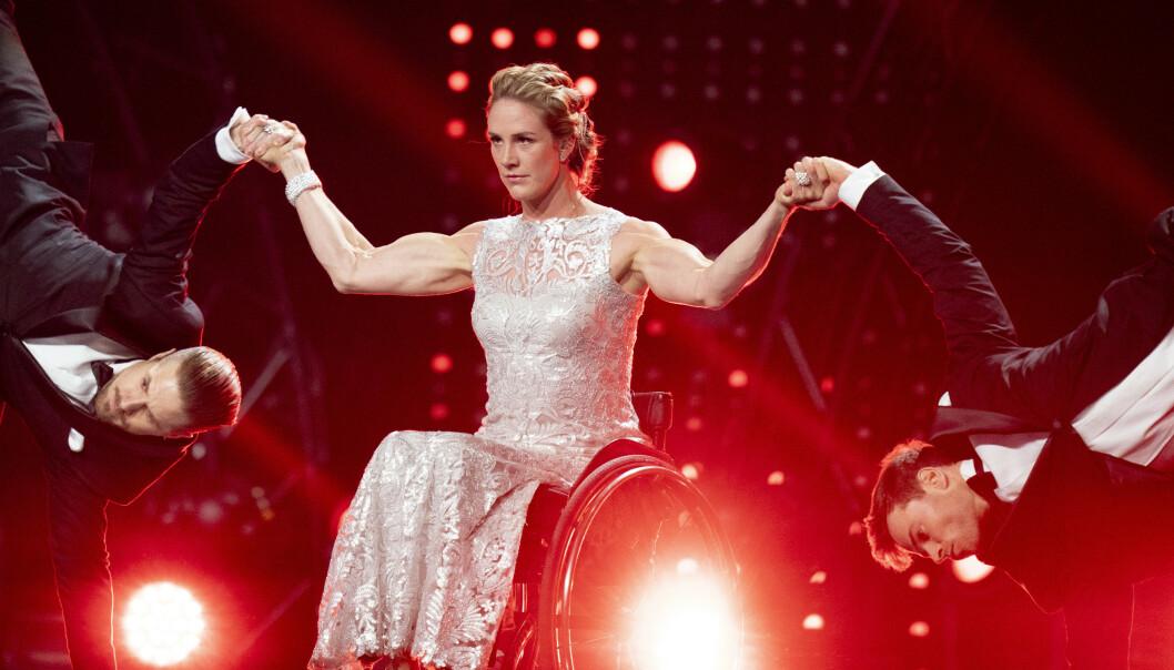 <strong>TERPING:</strong> Skarstein har tidligere vært å se dansende, som under Idrettsgallaen på Hamar tidligere i år. Hun forteller at hun nå skal øve til hun blør for å få teknikken til å sitte. Foto: Fredrik Hagen / NTB Scanpix
