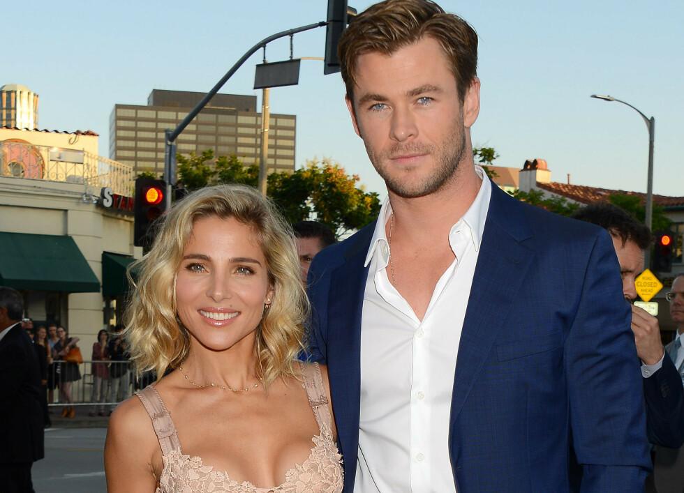 <strong>STJERNEPAR:</strong> Fansen mener Elsa Pataky og Chris Hemsworth er definisjonen på det perfekte paret. Førstnevnte er imidlertid ikke helt enig. Foto: NTB scanpix