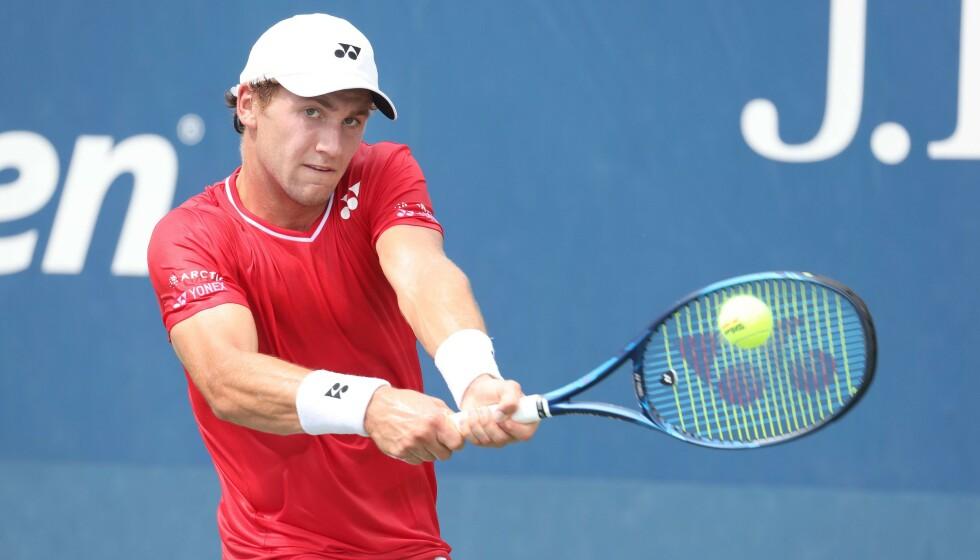 <strong>SEIER:</strong> Casper Ruud er videre til andre runde i US Open for første gang i karrieren. Al Bello/Getty Images/AFP